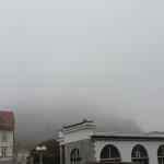 Lublana, wzgórze zamkowe we mgle