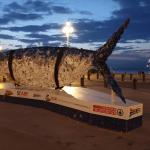 Rzeźba ryby w Trieście
